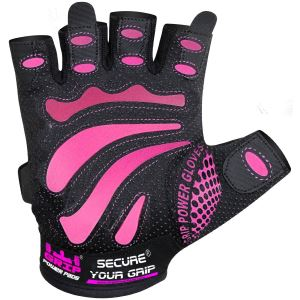 mimi pink lifting gloves