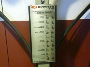 Bowflex Blaze Exercises