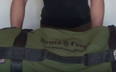 brute force training sandbag side