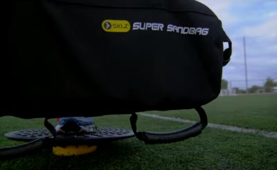 SKLZ training sandbag outside