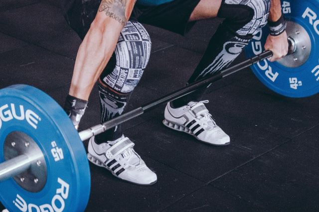 deadlift with Adidas Adipower